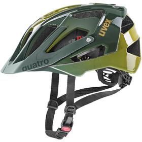UVEX Quatro Helmet, forest/mustard